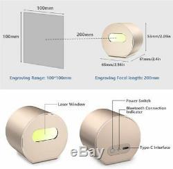 1600mw Découpage Portable Bureau Bt Machine De Gravure Laser Engraver Diy Logo App