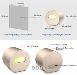 1600mw Portable Bureau Bluetooth Laser Engraving Machine De Découpe De Bricolage Graveuse