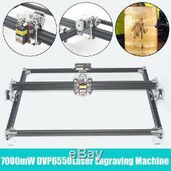2 Axes Machine De Gravure Laser Métal 7000mw 65x50cm Usb Graveuse Coupe