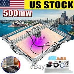 2 Axis 500mw 65x50cm Diy Gravure Au Laser Carver Cnc Graveuse Machine De Découpe Us