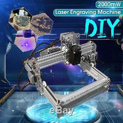2000mw Diy Laser Engraver Imprimeur Cutter Gravure Machine De Découpe De Noël