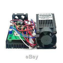 2w 445nm 450nm Mise Au Point Blue Dot Laser Diode Module 2000mw 12v Cutting Gravure