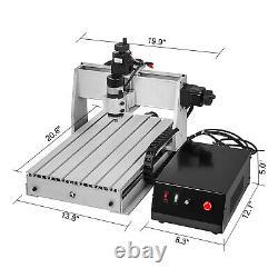 3 Axe Cnc Routeur Graveur 3040 500w Graveur Laser 8000rpm 3d Cutting Drilling