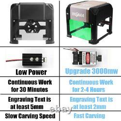 3000mw 3d Cnc Laser Graveing Machine De Coupe Usb Graveur Diy Mark Imprimante