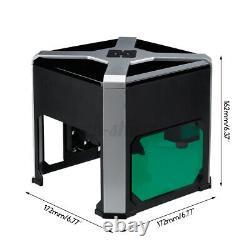 3000mw 3d Cnc Laser Gravure Cutting Machine Desktop Usb Mark Printer Cutter Us
