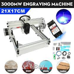 3000mw De L'usb Cnc Machine De Gravure Laser De Marquage Imprimante Graveuse Coupe