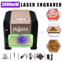 3000mw Usb 3d Gravure Au Laser Machine De Découpe Cnc Bricolage Logo Graveuse Imprimante Us