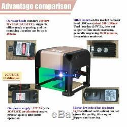 3000mw Usb De Bureau Machine De Gravure Laser De Découpe Logo Bricolage Imprimante Cnc Graveuse
