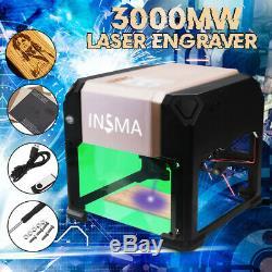 3000mw Usb Gravure Au Laser Machine De Découpe Logo Bricolage Imprimante Cnc Graveuse