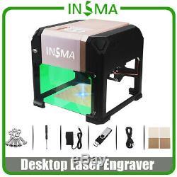 3000mw Usb Gravure Au Laser Machine De Découpe Logo Bricolage Imprimante Cnc Graveuse Bureau