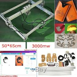 3000mw Zone Machine De Gravure Laser De Découpe Imprimante Bricolage Kit Bureau Cadeau