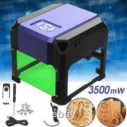 3500mw Gravure Laser Cut Machine Diy Logo Imprimante Sculpteur Cnc Graver Bureau