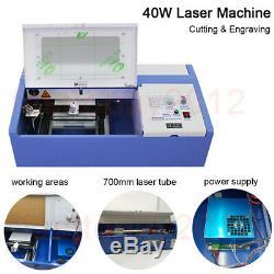 40w Co2 Usb Cnc Gravure Au Laser Machine De Découpe Laser Engraver Cutter 700mm Tube