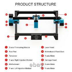 40w Diy Cnc Gravure Laser Coupe Machine Graveur Logo Printer Desktop Cutter