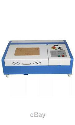 40w Laser Co2 Gravure Au Laser Engraver Découpe Machine 300x200mm Ce Graveuse