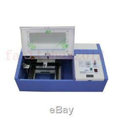 40w Laser Co2 Mise À Niveau Graveuse Machine À Couper Artisanat Cutter Usb Interface 110v