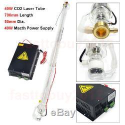 40w Laser Co2 Tube 700mm + 40w Alimentation 220 V Pour La Gravure Au Laser Et Coupe