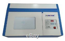 40w Laser Desktop Caoutchouc Co2 Graveuse Stamp Coupe 200mm300mm Laserdrw