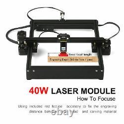 40w Laser Gravure Machine Cnc Routeur Laser Graveur Cutter Diy Printer