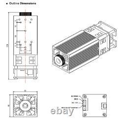 450nm 40w(5w Puissance Optique De Sortie) Tête De Module Laser Pour Découpe Par Gravure Au Laser