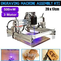 500mw Diy Cnc Gravure Laser Gravure Machine Graveur Imprimante Bureau Coupeur