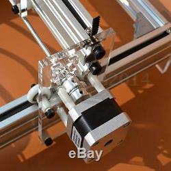 500mw Mini Découpe Laser Machine De Gravure Imprimante Kit De Bureau 20x17cm Bricolage