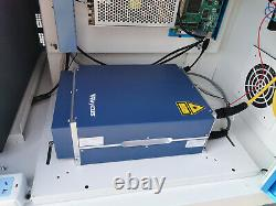 50w Raycus Fiber Laser Marking Machine Metal Marquage Et Coupe 80mm Rotaxis