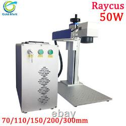 50w Raycus Machine De Marquage Laser À Fibres Pour La Coupe De Bijoux En Métal Or Argent 1mm