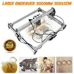 50x65cm 3000mw Zone Mini Machine De Gravure Laser De Découpe Imprimante Kit De Bureau