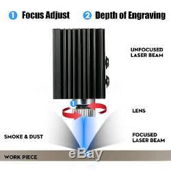 50x65cm Zone Mini Machine De Gravure Laser De Découpe Imprimante Kit De Bureau 3000mw