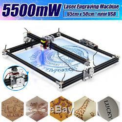 5500mw De Machine De Gravure Laser Découpe Cnc Commande D'imprimante Logo Maker