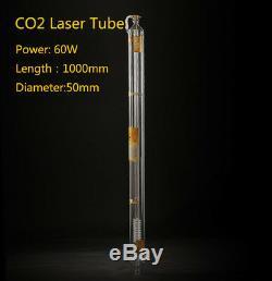 60w Laser Tube Metal Head Pipe En Verre 1000mm Pour Machine Co2 Cutting Gravure