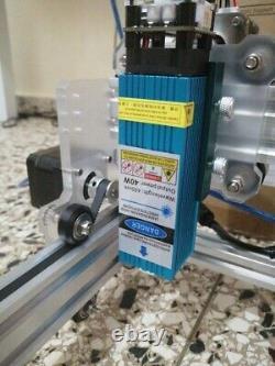 65cm65cm Surface De Travail Bois Machine À Gravure Laser Cnc Avec Machine Rotative 40w