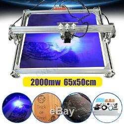 65x50cm 2000mw Bricolage Bureau De Découpe Laser Machine De Gravure Imprimante Mark Graveuse