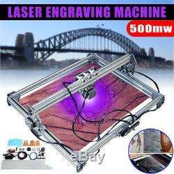 65x50cm Gravure Au Laser Coupe De Coupe Marquage Logo De L'imprimante Machine Kit 500mw