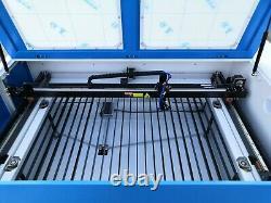80w 1000 X 600mm Co2 Graveur Laser Graveur Coupeur Coupe Usb 3x2 Pieds