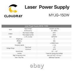 Alimentation Laser Co2 De 150w Pour La Machine De Coupe De Gravure Myjg-150w 110v 220v