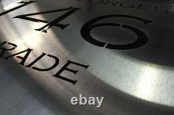 Boîte À Lettres Boîte À Lettres En Acier Inoxydable Taille Laser Plaque Personnalisée 350mm X 350mm