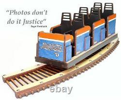 Cedar Point Blue Streak Roller Coaster Modèle Détaillé Laser Gravé & Cut