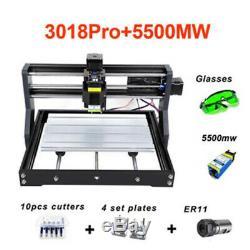 Cnc 3018 Gravure Router5500mw Sculpture Module Machine De Découpe Laser Fraisage Bricolage