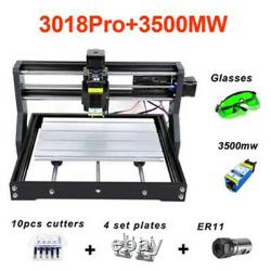 Cnc 3018 Gravure Routeur3500mw Module Laser Carving Milling Diy Cutting Machine