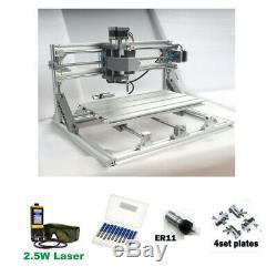 Cnc 3018 Router & Graveuse 5.5w Carving Module Laser Fraisage Machine De Découpe De Bricolage