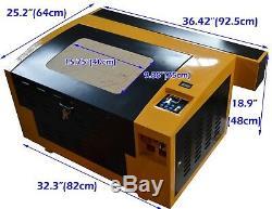 Co2 50w Gravure Au Laser Machine De Découpe Machine De Guidage Linéaire Gravure 4030 110v