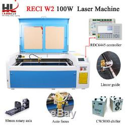 Co2 Gravure Au Laser Machine De Découpe Reci W2 100w 1000x600mm Ue Des Navires Graveuse