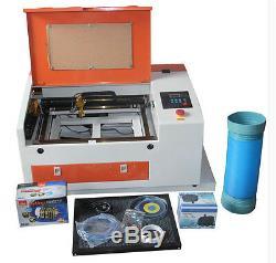 Co2 Version Améliorée 60w 110 / 220v Machine De Gravure Laser De Coupe Avec Port Usb