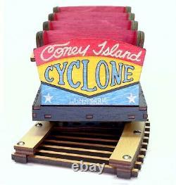 Coney Island Cyclone Roller Coaster Modèle Laser Gravé Et Coupé