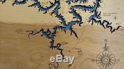 Cut 2d En Bois, Gravé Osage, Mo Plan Framed Wall Laser Art Gravé