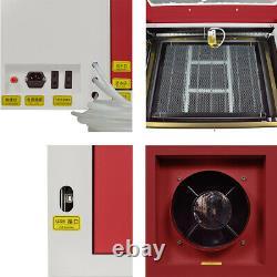 Découpage 60w Co2 Laser Machine De Gravure Usb Graveuse 600mmx400mm Verre Bois
