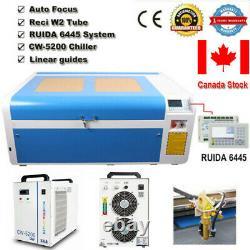 Dsp1060 100w Co2 Machine À Découper Au Laser Autofocus & Cw-5200 Chiller Reci W2 Tube