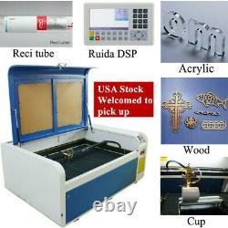 Dsp1060 100w Co2 Usb Laser Coupe Machine Auto-focus Reci W2 Graveur Us
